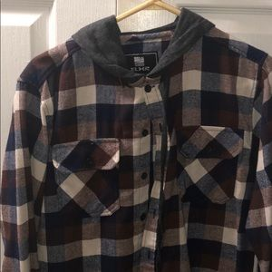 Other - Flannel with hood